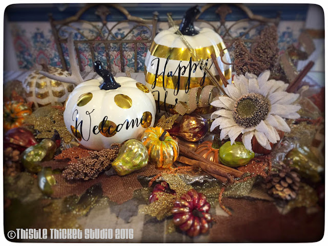 Thistle Thicket Studio, fall decor, fall tablescape