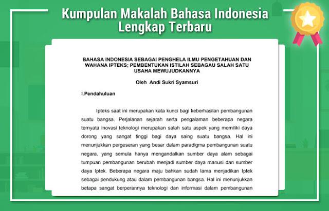 Kumpulan Makalah Bahasa Indonesia Lengkap Terbaru
