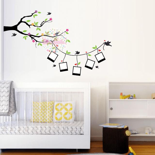 Vinilo decorativo rama con soga y fotos w404 cdm - Vinilos decorativos fotos ...