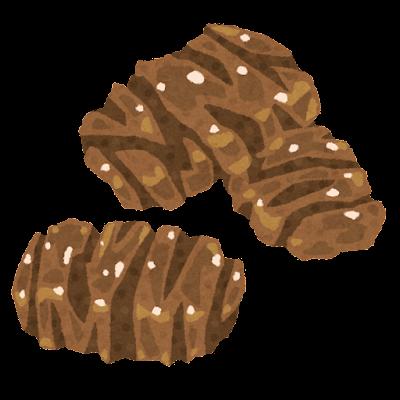 ぬれ煎餅のイラスト