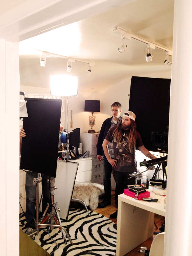film crew in my office