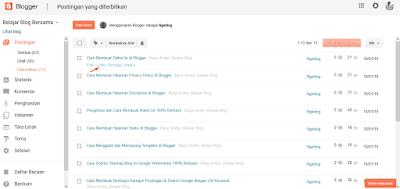 Cara Melihat Artikel Postingan di Blogger