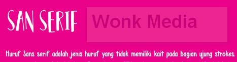 Jenis Jenis Font