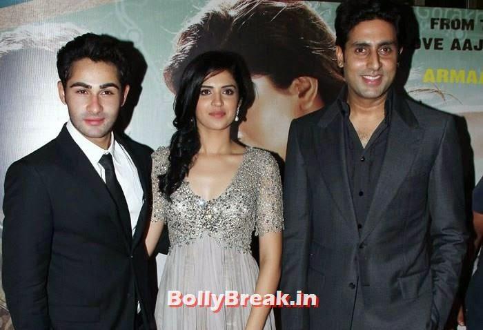 Armaan Jain, Deeksha Seth, Abhishek Bachchan