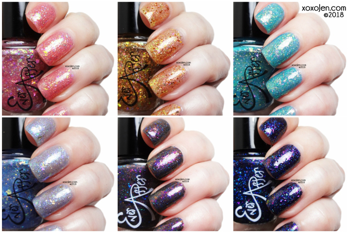 xoxoJen's swatch collage of Ever After o-pa-leez collection