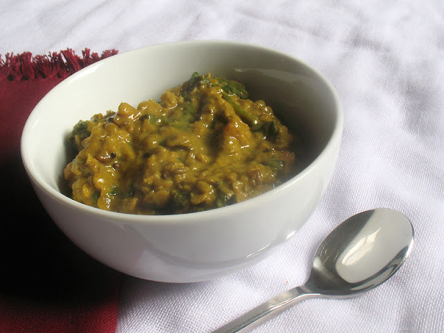 Red Lentils as well as Spinach Dal