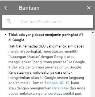 SEO bukan jaminan ranking 1 di google