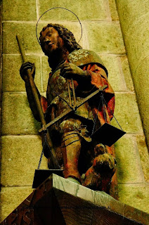 St. Michael statue, Mont St Michel, Normandy