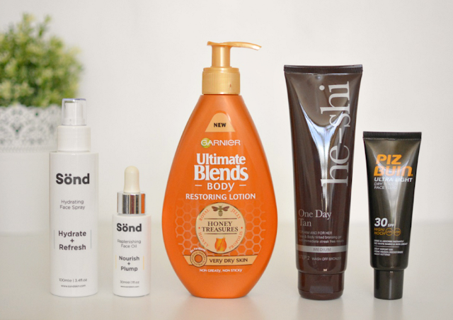 Holiday skincare essentials, Sond skincare, Garnier ultimate blends, He shi, Biz Buin