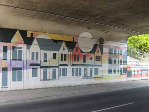 Keele Station Houses Mural