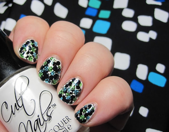 stamped dotticure with swimsuit background
