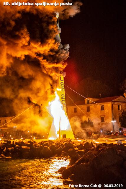 Spaljivanje pusta u Mošćeničkoj Dragi 06.03.2019