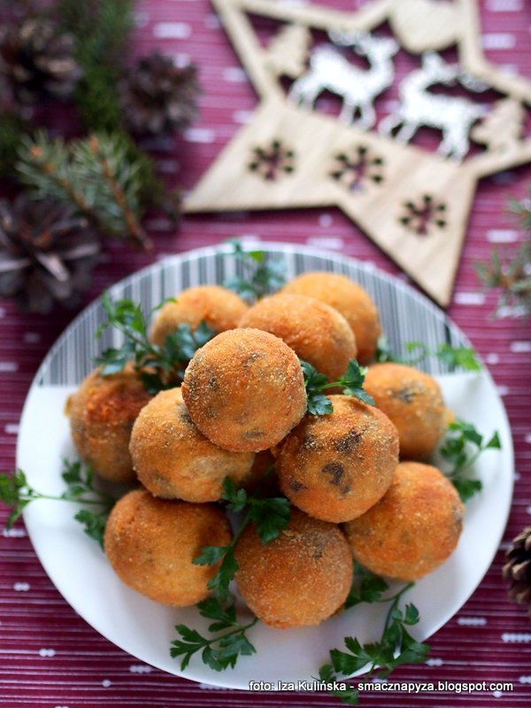 Krokiety ziemniaczane z grzybami