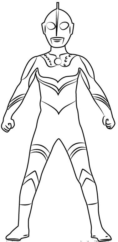 Cara Mudah Sketsa Atau Menggambar Ultraman Zoffy Belajar