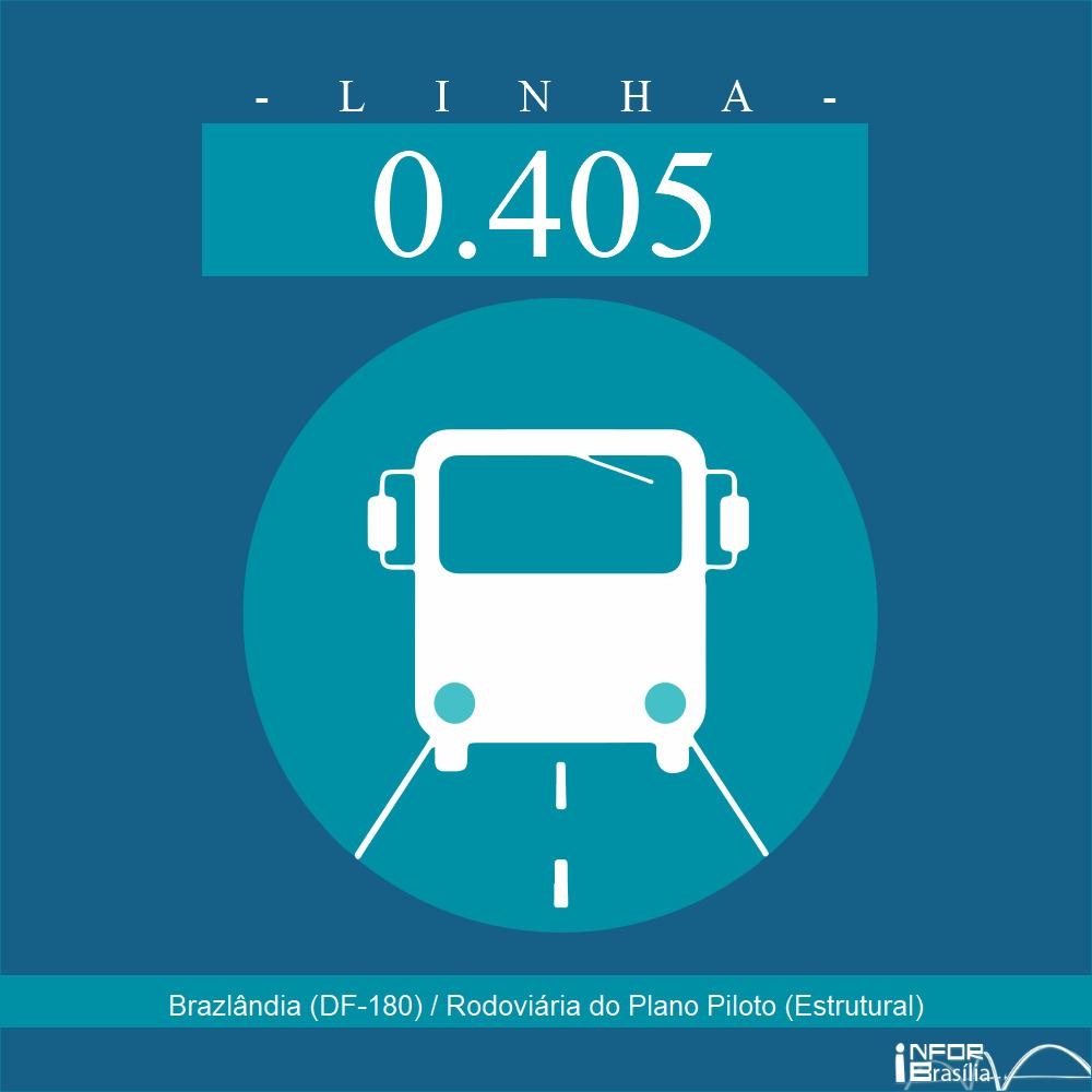 Horário de ônibus e itinerário 0.405 - Brazlândia (DF-180) / Rodoviária do Plano Piloto (Estrutural)