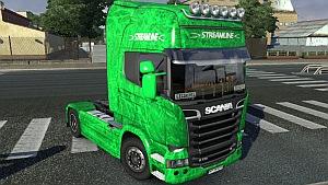 New Green Scania Streamline skin mod
