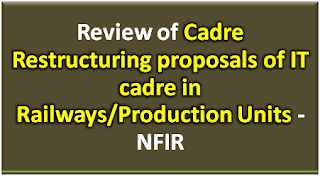 cadre-restructuring-proposals-of-it-cadre-in-railways