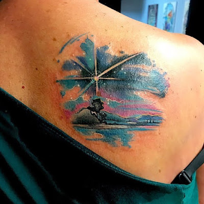 Shooting Star Tattoo for back