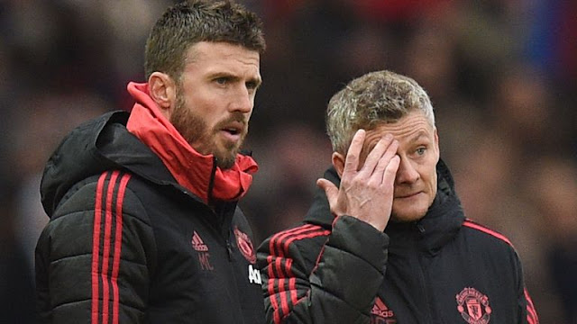 Micheal Carrick and Manchester United Boss Ole Gunnar Solskjaer