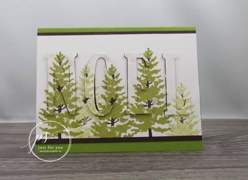 Season Like Christmas, Large Letters Framelits, Stampin'Up!