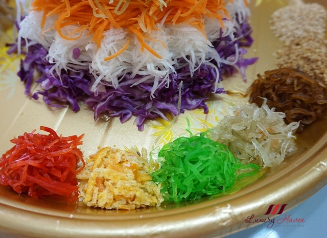 auspicious yu sheng ingredients pickled vegetables