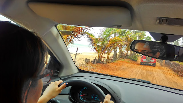Caminho até o Canyon de Coqueirinho, na Paraíba.