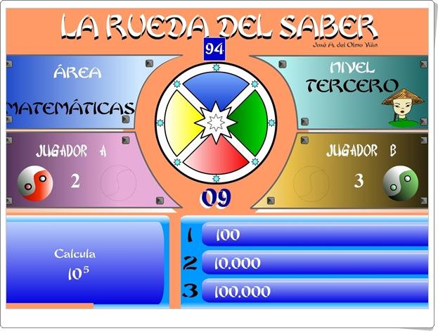 """JUEGOS DE FIN DE CURSO: """"La rueda del saber. Nivel III"""" (Juego multidisciplinar de 6º  de Primaria)"""