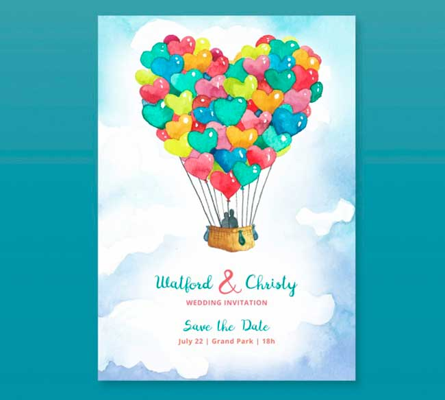 Cute wedding card download
