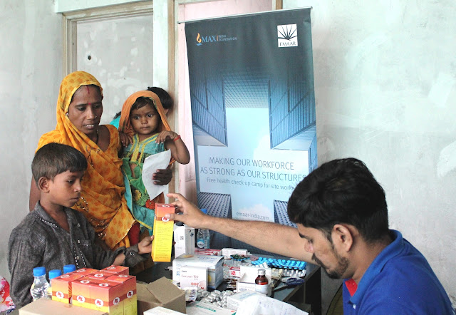 Emaar India conducts Health Camp for its site labourers in Gurugram