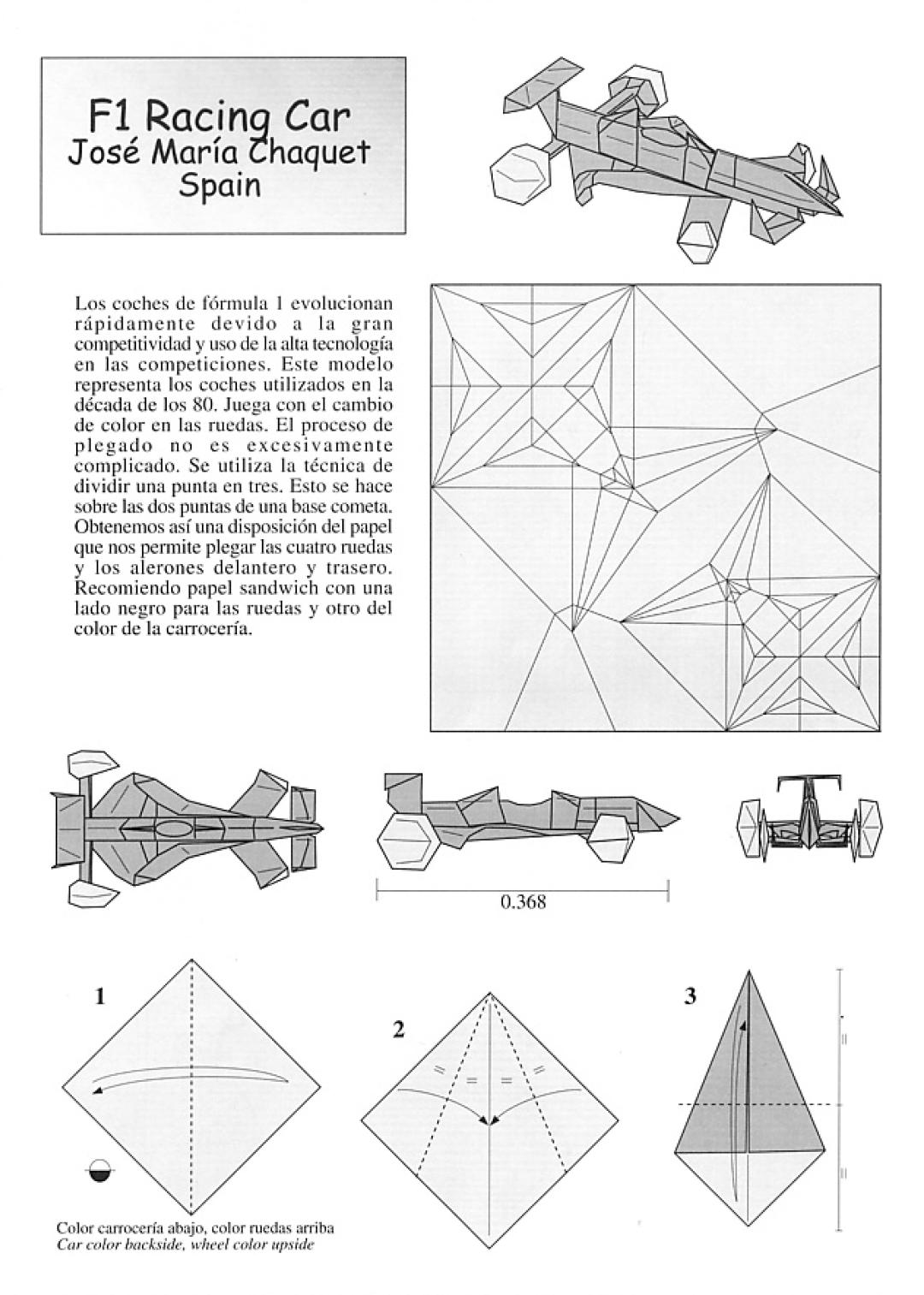 Papiroflexia Para Tod S Coche Formula Uno