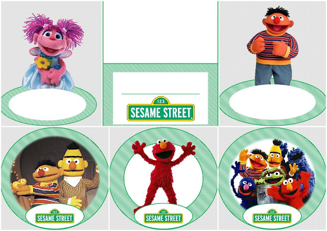 Sesame Street in Green: Free Printable Kit.