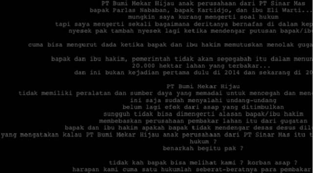 "Menangkan Perusahaan, Situs PN Palembang Diretas ""Titipan Korban Asap"""
