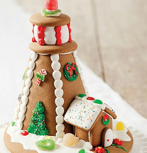Simple Gingerbread Lighthouse