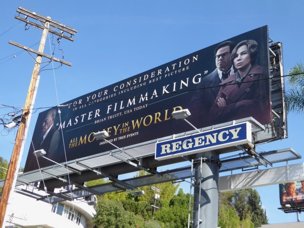 All the Money in the World FYC billboard