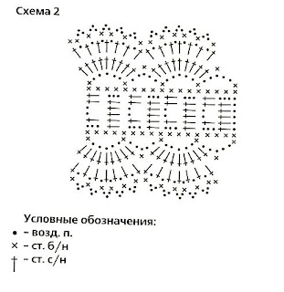 повязка на голову крючком схема