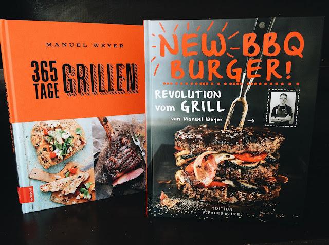 Grillbücher von Manuel Weyer: 356 Tage grillen und New BBQ Burger.