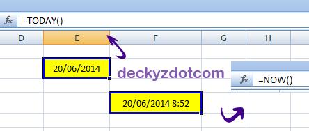 Cara menampilkan tanggal otomatis di excel
