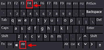 tahan tombol Alt dan tekan tombol F4