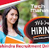 Tech Mahindra Recruitment 2017 Job Openings For Freshers.