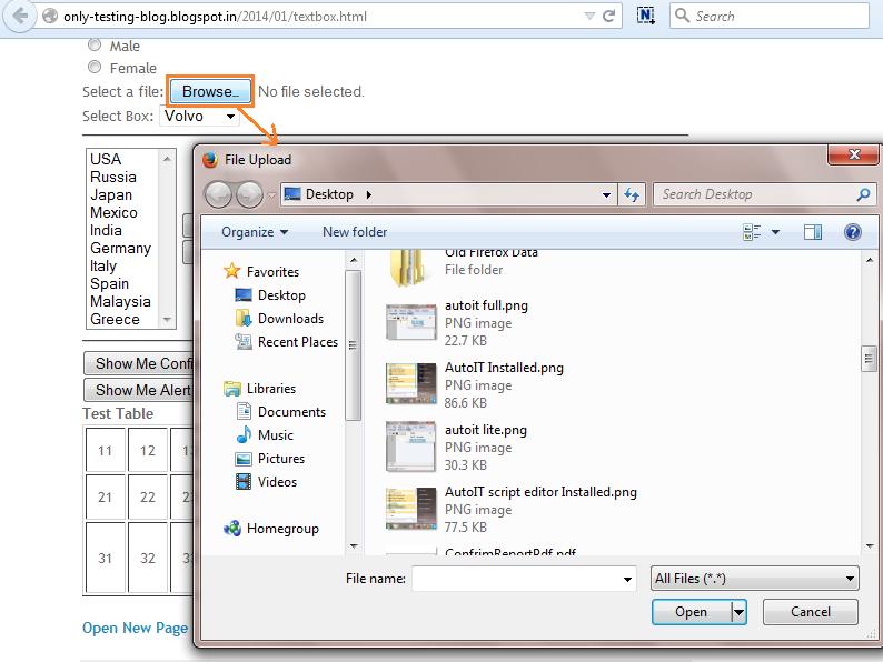 Create Script In AutoIt To Upload File