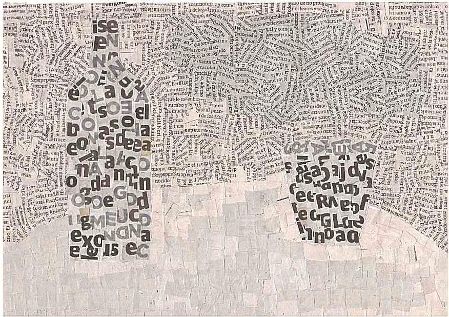 3º ESO.El Collage Con Texturas De Papel De Periódico
