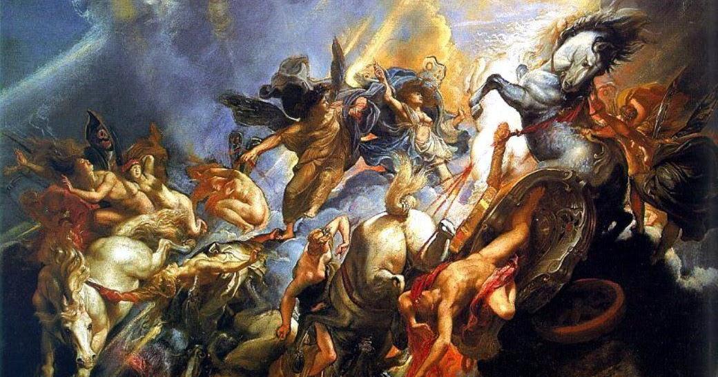 Борьба богов олимпийцев с титанами картинки