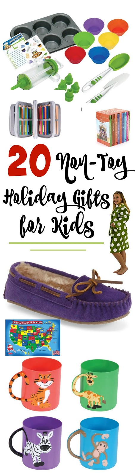 Holiday Gift Guide: 20 Non-Toy Gifts for Kids...reach past the toys and give your kids something they'll treasure this Christmas!  From books, to educational games, to funcational items they need this holiday list is top notch! (sweetandsavoryfood.com)