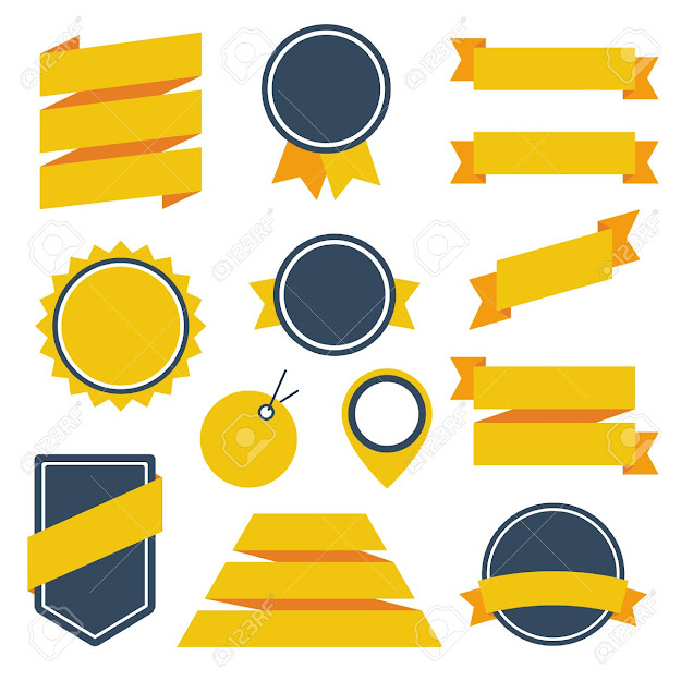 Vector Stickers And Badges Stock Vector