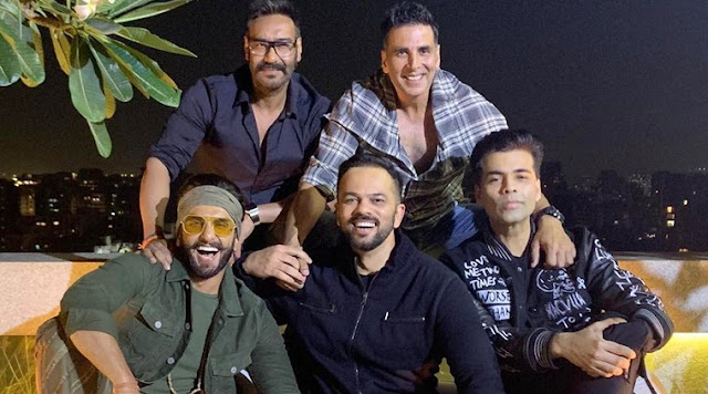 Simmba team celebrate film success with Deepika Padukone Ajay Devgn Akshay Kumar