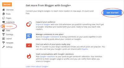 Cara membagikan postingan ke google+