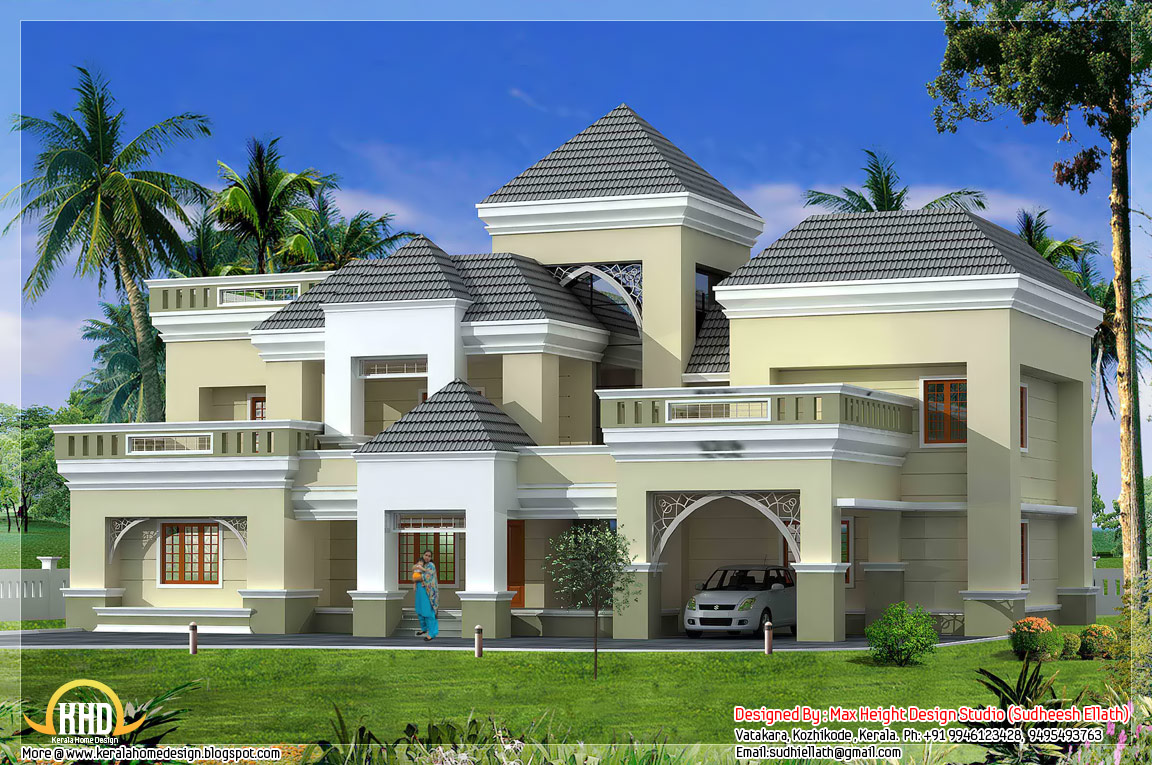 Unique kerala home plan and elevation kerala home design for Unique farmhouse plans