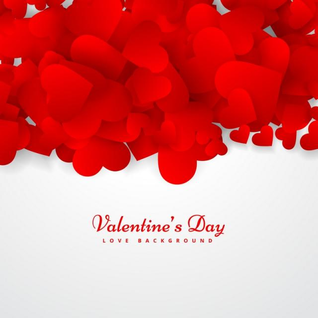 valentines day greeting card vector design illustration free vector