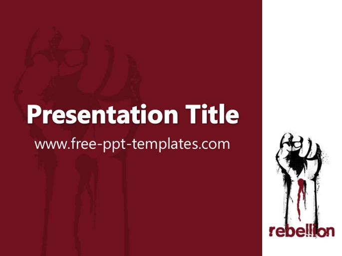 Free powerpoint templates rebellion ppt template toneelgroepblik Images