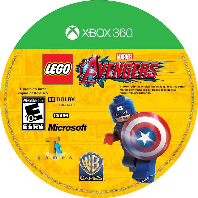 Label LEGO Avengers Xbox 360